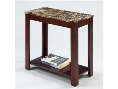 Cheap Devon Chairside End Table with Marble Style Top (B006UK0VTO)
