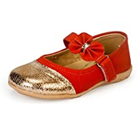 Bonito (from Khadims) Girls Red Synthetic Bellies -8