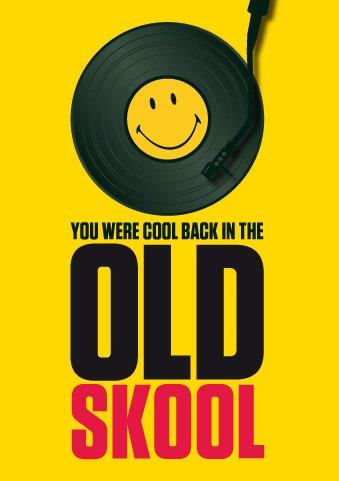 Cool smiley®/Old Skool-Biglietto di auguri per il compleanno