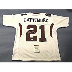 Autographed Marcus Lattimore Jersey - W 49ers - JSA Certified - Autographed College...