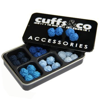 6-Pairs-of-Winter-Blues-Silk-Knot-Cufflinks-Gift-Set