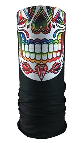 Festie-Fever-Rainbow-Skull-Rave-Bandana-Multifunctional-Seamless-Mask