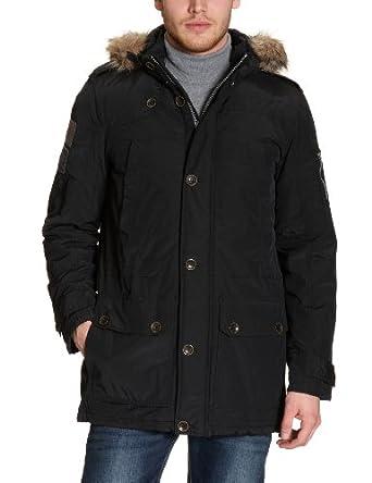 tom tailor mens parka with hood black small clothing. Black Bedroom Furniture Sets. Home Design Ideas