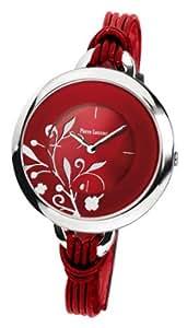 Pierre Lannier - 069F655 - Tendance - Montre Femme - Quartz Analogique - Cadran Rouge - Bracelet Cuir Rouge