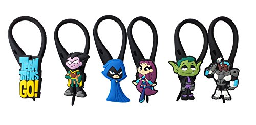 6 pcs Teen Titans Go Soft Zipper Pull Charms for Backpack Bag Pendant Jacket