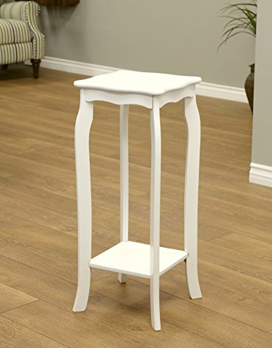 Frenchi home furnishing plant stand small white for Sofa table for plants