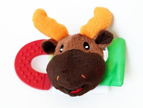 Wristy Buddy Teething Wristband, Moose