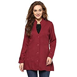 Cayman Red Solid Winter Jacket