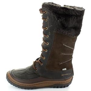 Merrell Womens Decora Prelude Waterproof Leather Boot, Mocha