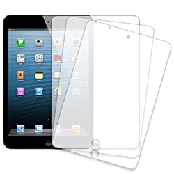 Mpero 3 Pack of Clear Screen Protectors for Apple iPad mini