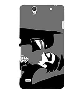 EPICCASE Angry faces Mobile Back Case Cover For Sony Xperia C4 (Designer Case)