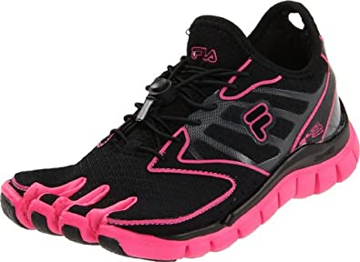 Fila Skele-Toes Amp Womens Black Mesh Running Shoes Size