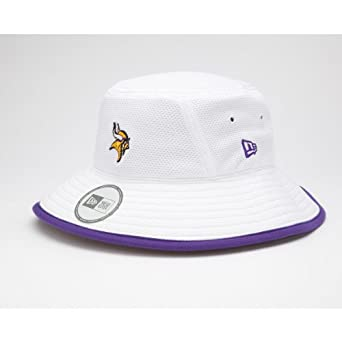 NFL Minnesota Vikings Training Camp Bucket Hat, White, One Size Fits All by New Era