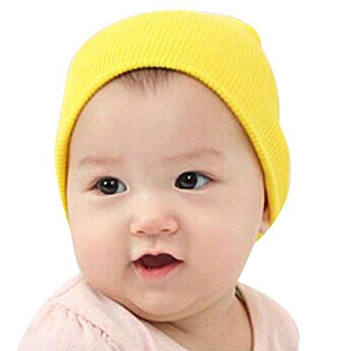 DATEWORK Baby Beanie Soft Winter Warm Kids Cap (Yellow) (Kids Graduation Hat)
