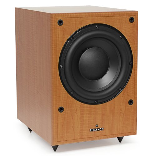 Fluance® Db150 10 Inch 150 Watt Low Frequency Powered Subwoofer-Natural Beech