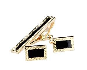 Lodestar Golden Nebula Boutons de manchette et pince à cravate dans un coffret cadeau: Patterned Frame DE (B-46)
