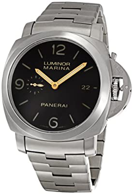 Panerai Men's PAM00352 Luminor Marina Brown Dial Watch