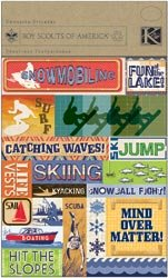K & Company Boy Scouts Foil Embossed Stickers 4.5
