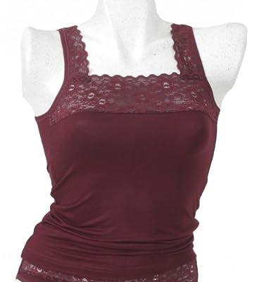 HERMKO 1207.121 Damen Hemd mit hochwertiger Spitze aus der Buchenholzfaser Modal, sehr weich und anschmiegsam, Unterhemd, Achselhemd from HERMKO