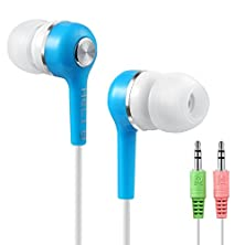buy Heli V18 In-Ear Mega Bass Headphone With Microphone For Computer, Notebook (Blue)