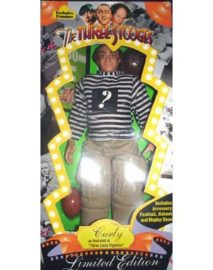 "Curly ""Three Little Pigskins"" 3 Stooges Action Figure Doll - 1"