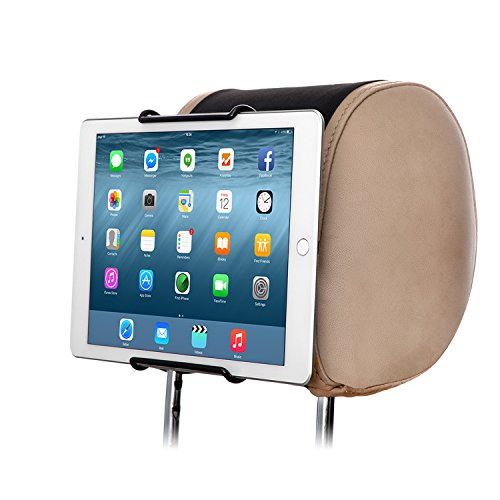 "TFY Supporto Universale Auto Poggiatesta per TUTTI i Tablet PC da 6-11 Pollici Con o Senza Cover Nessuna Sporgenza - Apple iPad,iPad4(iPad 2&3),iPad Air(iPad5),iPad Mini 4 - iPad Pro 9.7"" - Samsung Galaxy Tab 2,Galaxy Tab 3,Galaxy Note - Google Nexus 7,10 - Asus Transformer Book,MeMO Pad HD 7 - Microsoft Surface Pro,Surface RT - Dell Venue 8 Pro,Venue 7 - Lenovo IdeaTab - Sony Xperia Tablet Z e Altro"