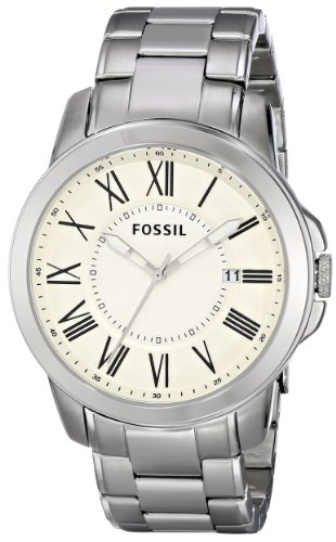Fossil Men's FS4734 Grant Stainless Steel Watch