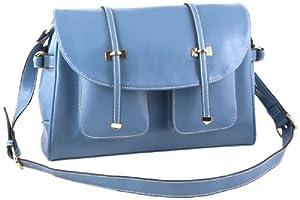 Yippydada Paris Real Leather Baby Changing Bag ( Blue ) from Yippydada