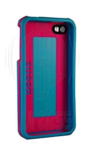 AGF Beetle Shell Case for iPhone 4 Aqua w/ Pink Stripe