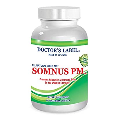 Somnus PM | Natural Sleep Supplement - Non-Habit Forming - Herbal - Natural Sleep Aid - OTC Insomnia Sleep Medication - Contains Melatonin, Valerian Root, Chamomile, GABA & More!