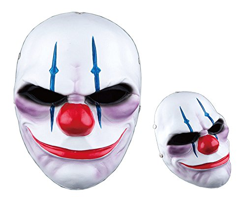 IRQ Clown Mask Cosply Full Face Mask Resin Mask for Halloween Party 1Pcs