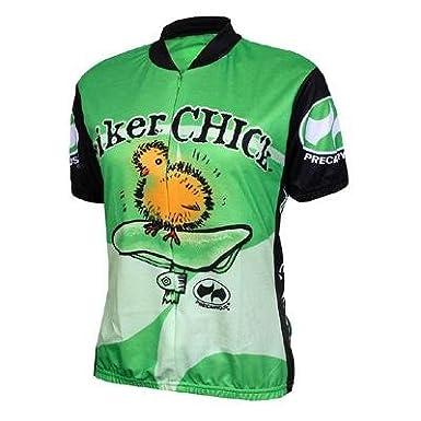 green biker chick cycling jersey