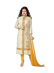 Fab Pandora Cotton Embroidered Un-stitched Dress Material with Dupatta Material