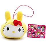 "3.5"" Official Sanrio Hello Kitty X Rody Plush Strap Yellow"