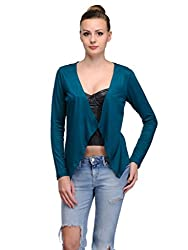 MySin Emerald Viscose Solid Shrug