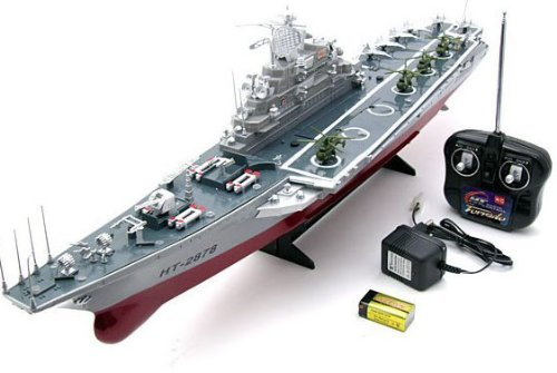 1:275 4 Channel RC Remote Control Aircraft Carrier Boat Battleship ship warship