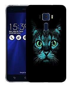 Snoogg Blue Cat Designer Protective Back Case Cover For ASUS ZENFONE 3 ZE520KL