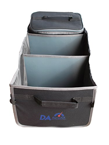 Trunk Organizer Cooler - New Model of Auto Trunk Organizer from DAforCAR for All Vehicles with Thermo Isolating Cooler Collapsible Design and Washable Interior. Enjoy Your Car Tidy and Life Simple! (Cargo Organizer With Cooler compare prices)