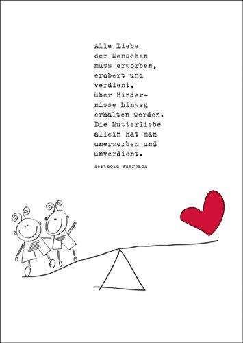Verschicken Sie Alles Gute zum Muttertag mit dieser herzlichen Grußkarte • auch zum direkt Versenden mit ihrem persönlichen Text als Einleger.