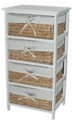 DRAWER SET WICKER FARMHOUSE CHABBY CHIC