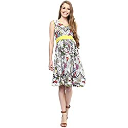 MamaCouture Yellow Cotton Dress for Women
