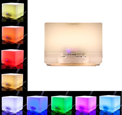 Maishengjie 700ml Aroma Essential Oil Diffuser,With Color LED Lights and Waterless Auto Shut-off Fuction,4 Timer Settings for Home, Yoga, Office, Spa, Bedroom, Baby Room (Steamer Oil compare prices)