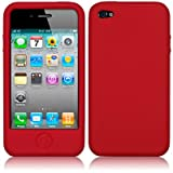 IPHONE 4 / IPHONE 4G SOFT SILICON SKIN GEL CASE - RED PART OF THE QUBITS ACCESSORIES RANGEby Qubits