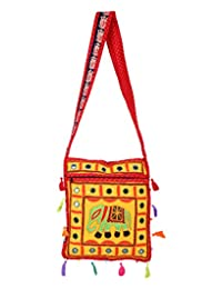 Traditional Yellow Embroidered Cotton Elephant Sling Bag For Women's By Rajrang