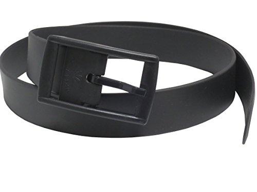 ブラック / シリコン ラバーベルト カジュアル な タイプ の ベルト です / ゴルフ などのスポーツ に 最適