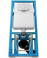 Bâti-support WC - avec réservoir - mécanisme de chasse d'eau encastrable