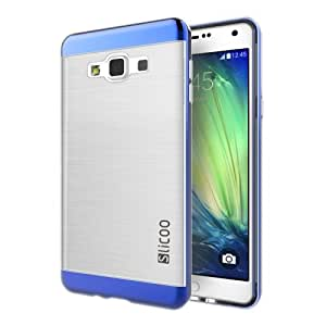 Crazy4Gadget Slicoo Brushed Texture Electroplating Transparenct Combination Case for Samsung Galaxy A5 / A500(Blue)