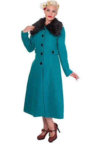 Banned Apparel - Cappotto da donna Rockabilly Smeraldo gioco XXXL