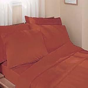 1500 thread count queen size egyptian bed sheet set deep pocket orange home kitchen. Black Bedroom Furniture Sets. Home Design Ideas