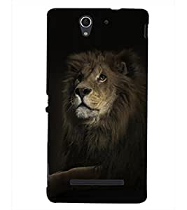 PRINTSHOPPII LION Back Case Cover for Sony Xperia C3 Dual D2502::Sony Xperia C3 D2533